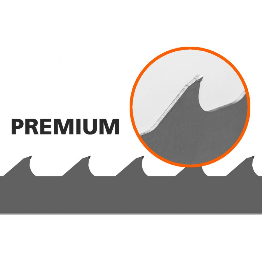 1 Stk. Sägebänder (Premium, Hartmetall) für B1001 L:4310 mm W:34 mm