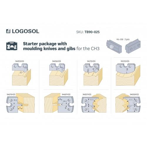 Starterpaket mit Profilmessern für CH3