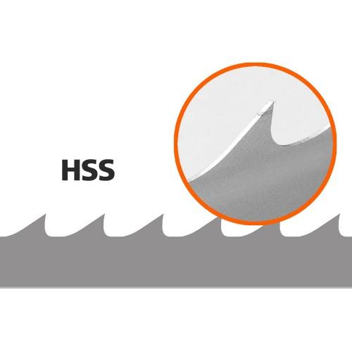 5 Stk. Sägebänder (HSS/Bimetal) für Logosol B751, L:3843 mm, W: 34 mm