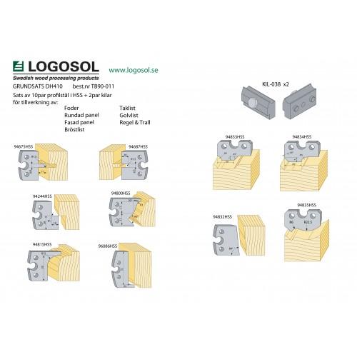 Starterpaket mit Profilmesser  und Keile für DH410